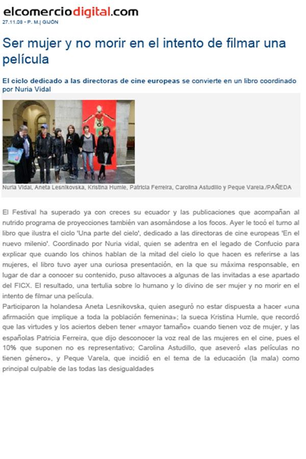 El Comercio Digital. 27-11-2009