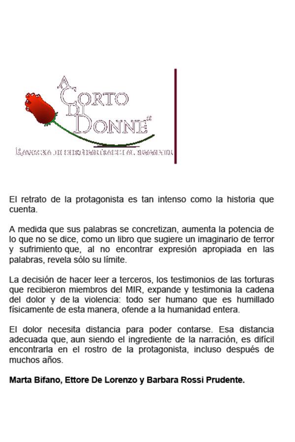 A Corto di Donne. 22-04-2013