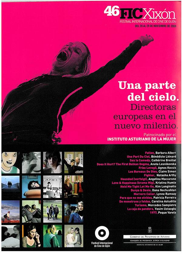 Cahiers Du Cinema. Afiche Una parte del cielo. Noviembre 2009