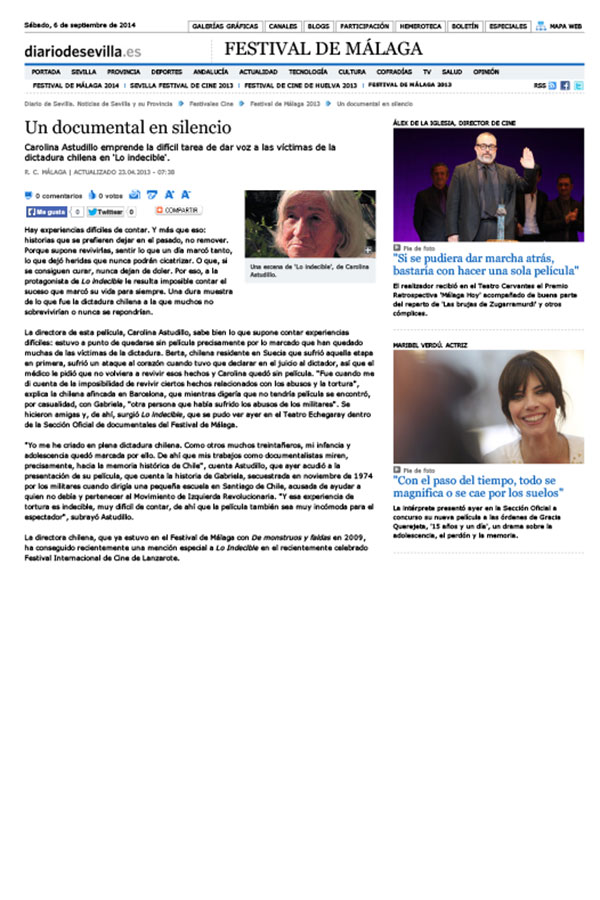 Diario de Sevilla. 23-04-2013