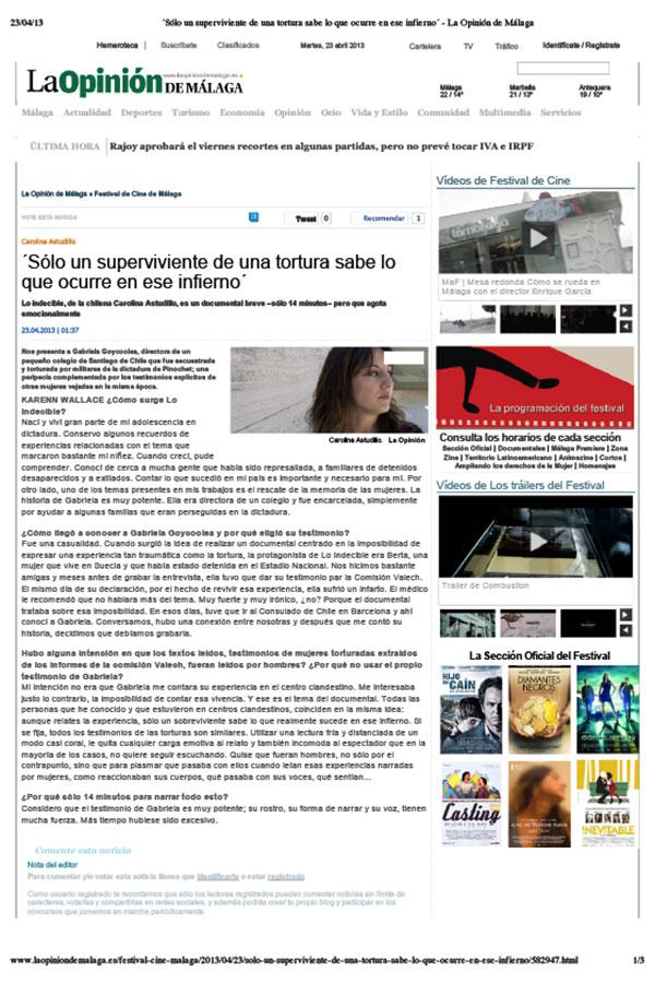 La Opinión de Málaga. 23-04-2013