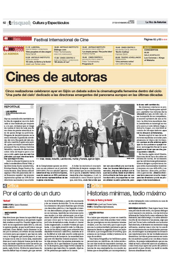 La Voz de Asturias. 27-11-2009